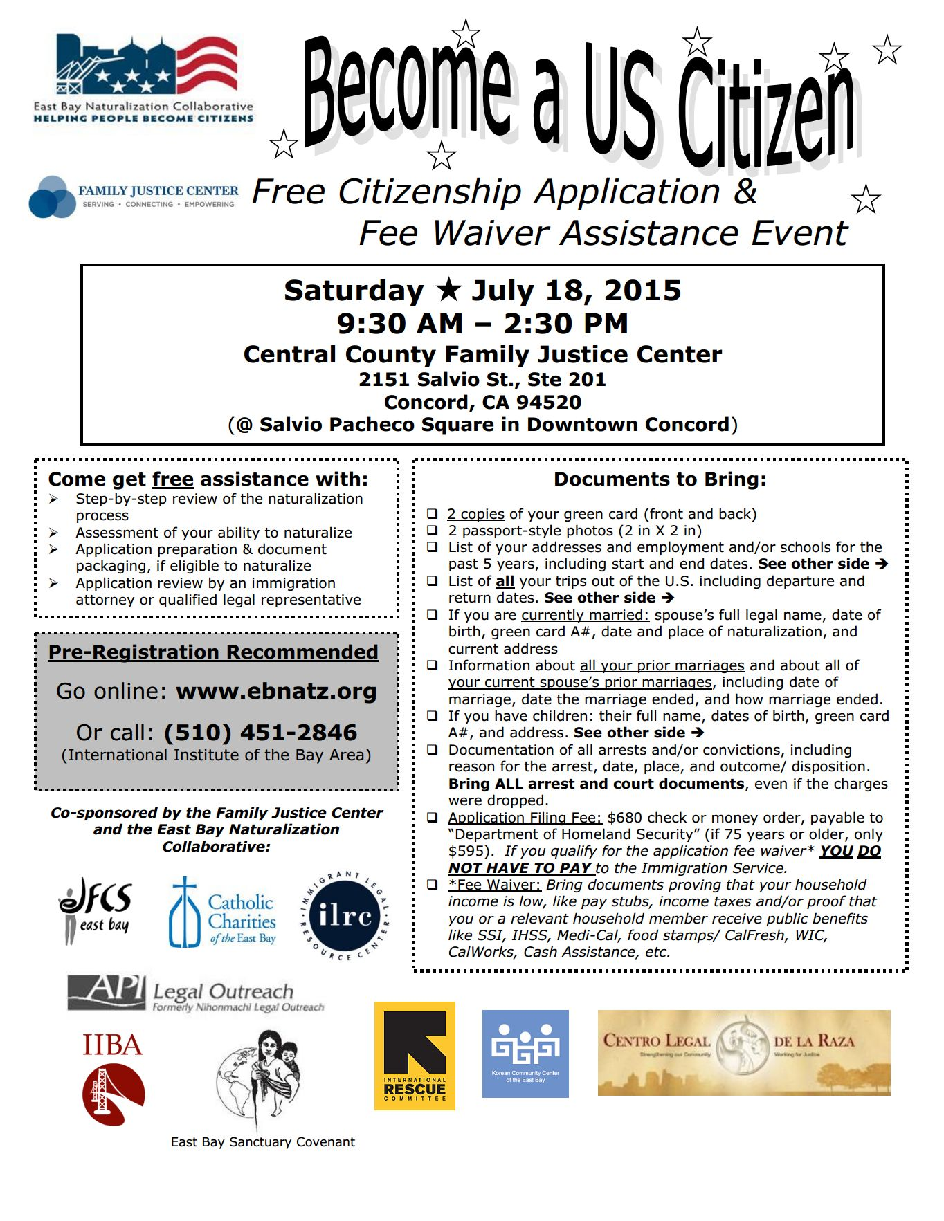 Citizenship Workshop - CONCORD - JULY 18, 2015 - East Bay ...